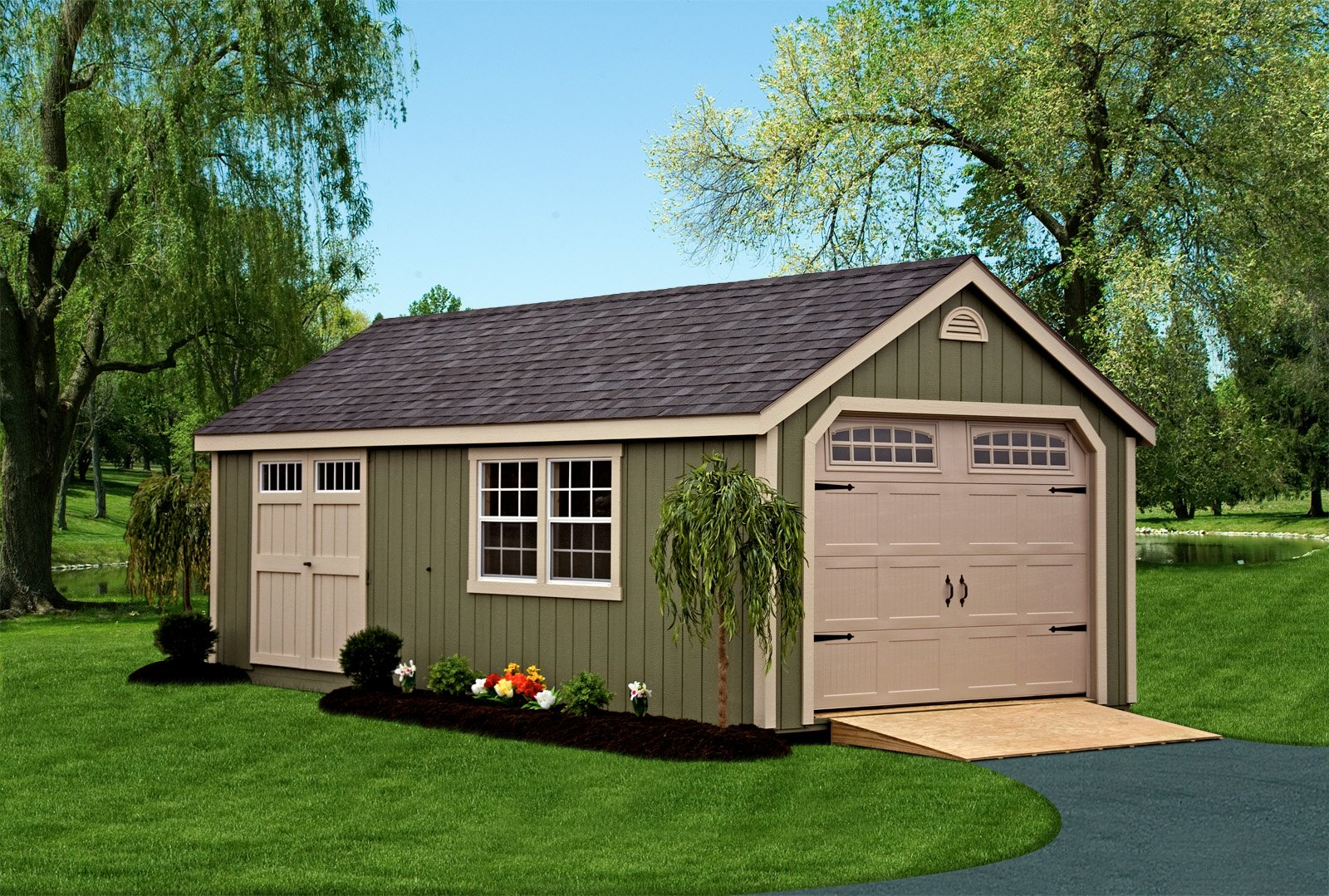 Deluxe Garage 10x16 The Shed Haus