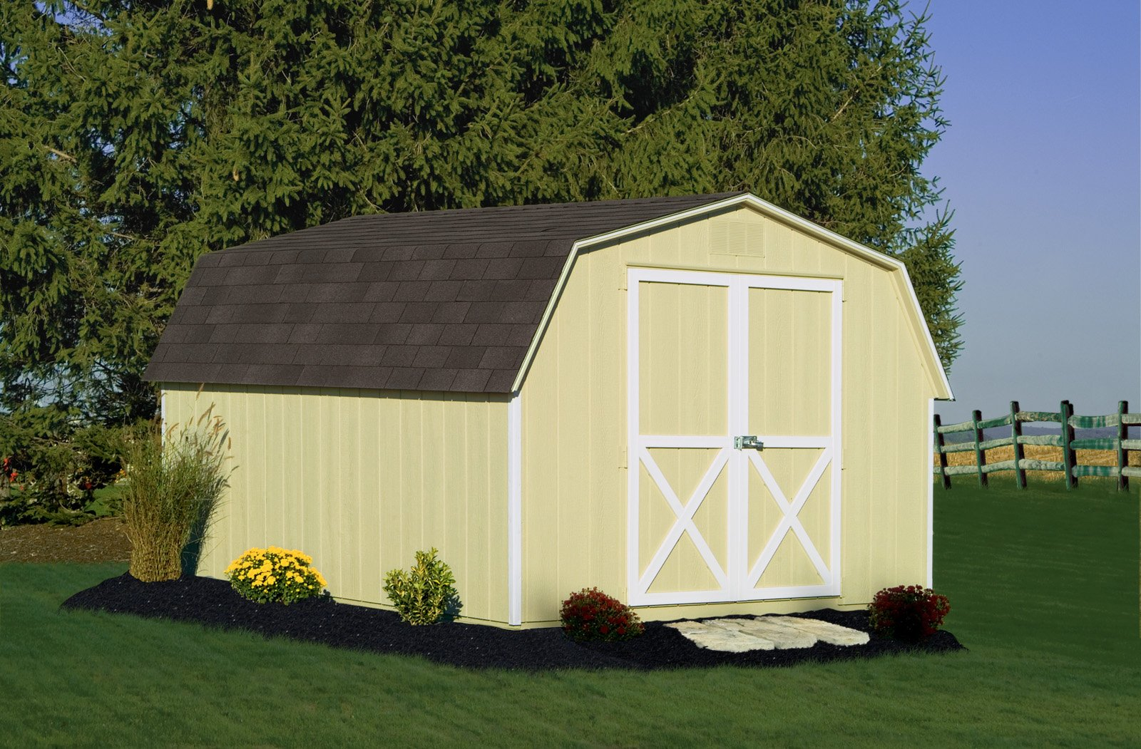 Mini barn 10x12 the shed haus for Mini barn shed