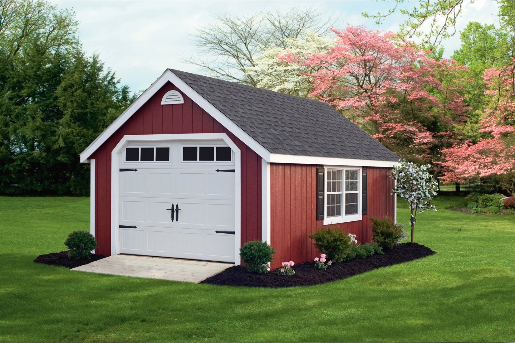 Classic Wood Garage red72