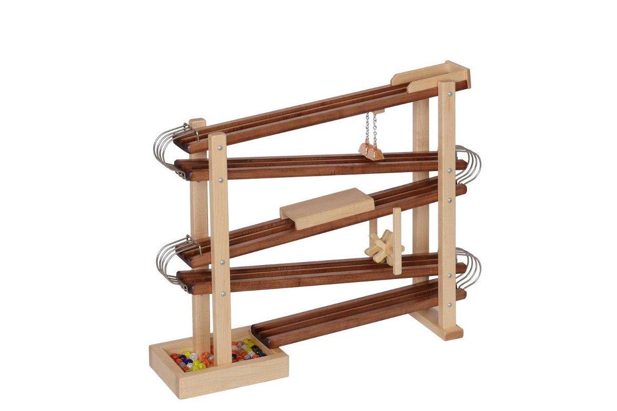 Handmade kids wooden toys marble roller.