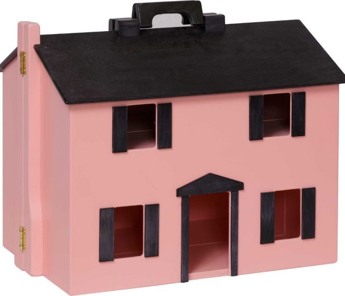 Handmade kids wooden toys dollhouse with hinge.