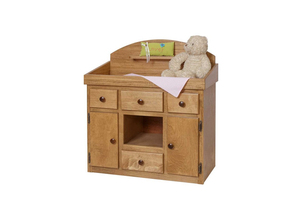 Handmade kids wooden play furniture cabinet table.