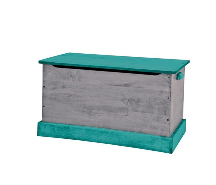 Handmade kids wooden play furniture storage chest.