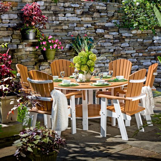 Poly Outdoor Bistro Chairs and Dining Table Cover