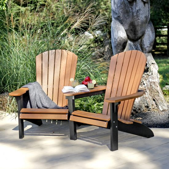 Poly Outdoor Fanback Settee