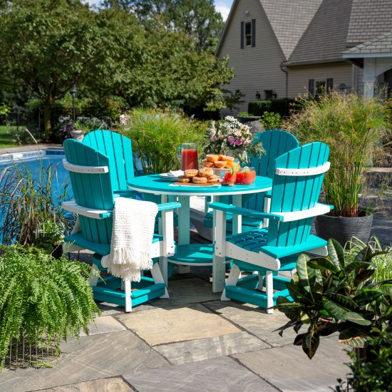 Poly Outdoor Swivel Bistro Chair