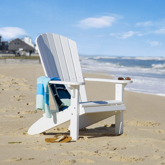 Poly Outdoor Fanback Chair on beach