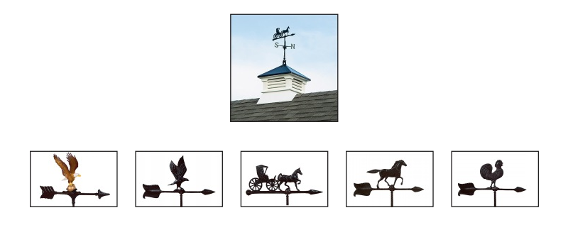 Cuppolas and weathervanes