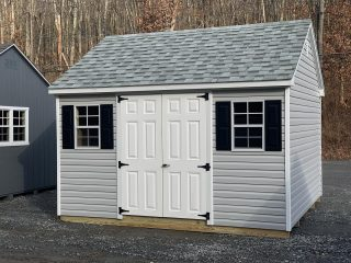 New Sheds have arrived  📸#1-12x12 Vinyl Cape Cod in Heritage Gray  📸#2-12x20 Cape Cod with additional double doors and loft inside. All Charcoal Brown 📸#3-12x20 Cape Cod Single Car Garage. Comes with 8ft Vehicle Ramp. Dawn Gray exterior.  ☎️Call or Message us for pricing and additional information☎️ #theshedhaus #amishsheds #amishmade #handcraftedamish #handcrafted #authenticamishcraftsmanship #hudsonvalley #dutchesscounty #pawling #newyork #ny #pawlingny #smallbusiness #backyardshed #sheshed #storageshed #gardenshed #backyard #backyardgarden #garage #garagestorage