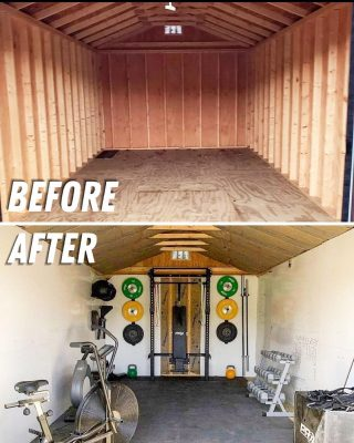 Take your Shed from boring to your personal home gym.
