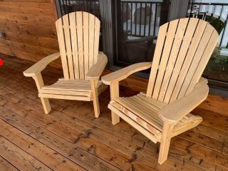 It's Bon Fire Season. 🔥 We have folding Adirondack Chairs available.  Made of pine and the highest level of comfy.  We also have one Adirondack Settee left in stock.  Call, DM or stop by for pricing !