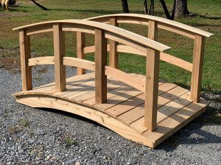We also offer Wooden Bridges. Multiple lengths, widths, styles and finishes available. This one pictured here is Cedar and GORGEOUS ! #bridge #amishbridge #amishmade #handmade #authenticamkshcraftsmanship #backyardbridge #backyardgarden #landscape #cedar #cedarbridge #theshedhaus #pawling #ny #hudsonvalley #dutchesscounty #smallbusiness
