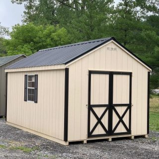 Has anyone else noticed just how nice and clean Black Metal Roofs are ? 10x16 Cape Cod featured in Navajo White with Black trim and Black Metal Rolf is available and ready for delivery. Call or Message for additional information to make this Shed yours. #shed #sheshed #backyardshed #storageshed #theshedhaus #amishshed #amishmade #handcrafted #authenticamishcraftsmanship #dutchesscounty #hudsonvalley #pawling #pawlingny #ny #shopsmall #smallbusiness