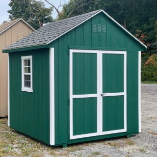JUST ARRIVED TODAY ! 8x8 Cape Cod Signature Series. Turf Green exterior, White trim & Charcoal Shingle. Call or message us for additional information & pricing. #theshedhaus #shed #backyardshed # backyard #amishmade #handmade #amishhandmade #authenticamishcraftsmanship #pawling #newyork #ny #hudsonvalley #dutchesscounty #storageshed #gardenshed